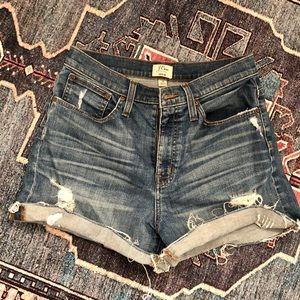 J Crew High Waisted Jean Shorts